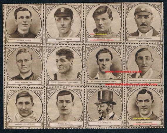 1922 complete Sports Fun Spurs Hearts cricket